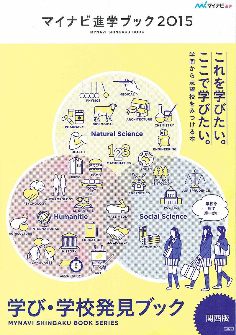 「マイナビ進学ブック関西版2015」冊子デザイン