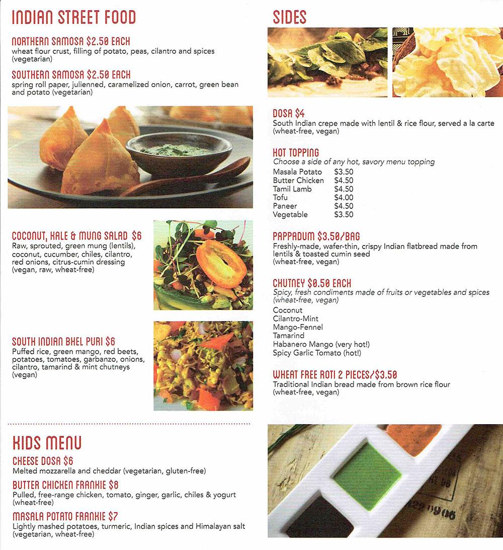 「ホールフーズ・マーケットWhole Foods Market「テイクアウトメニュー」リーフレットデザイン