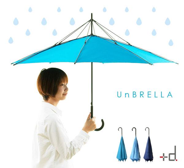 雨の日が待ち遠しい。常識を破った濡れない傘「UnBRELLA」