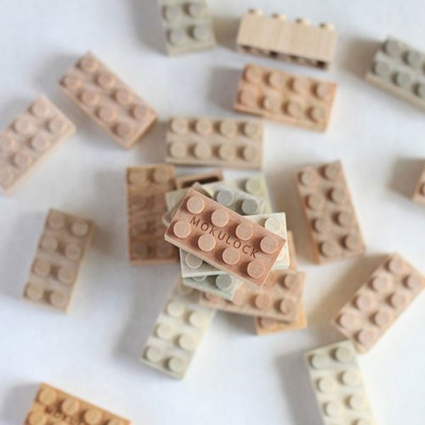 木製のレゴ?温かみのある天然木ブロック「もくロック」
