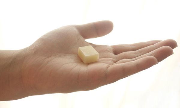 携帯に便利!使いきりサイズの「旅する石鹸やぎミルク」はキャラメルのよう
