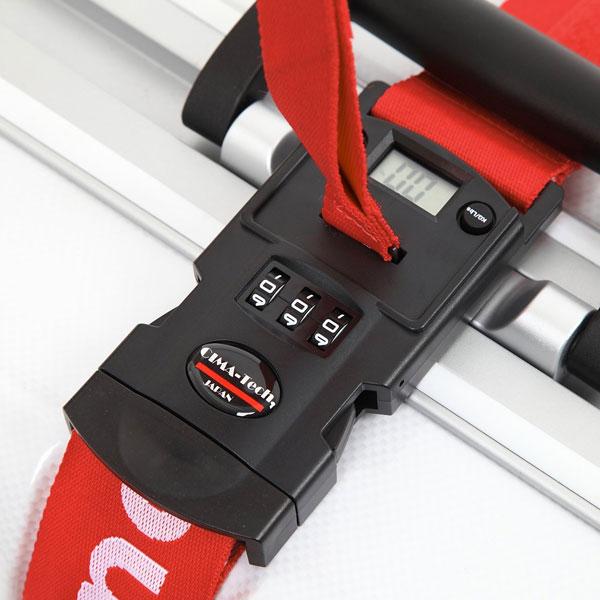 ロックできて重量も測れるスーツケースベルト「Luggage-Mate Basic Lock」