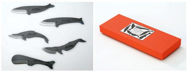 見ても使っても楽しいミニナイフ/小刀「クジラナイフ」