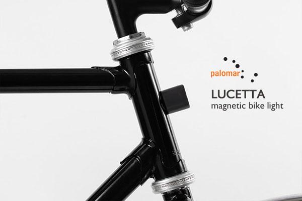 マグネットで着脱できるスタイリッシュな携帯自転車用ライト「PALOMAR(パロマー) Lucetta magnetic bike light」