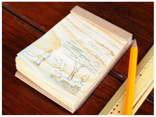 アイディアがぐんぐん育つ木から生まれたメモ帳「経木のメモ帳」
